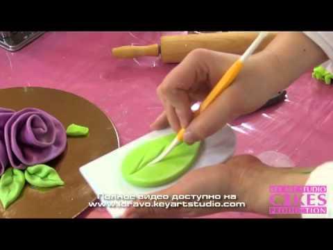 как приготовить листики из мастики