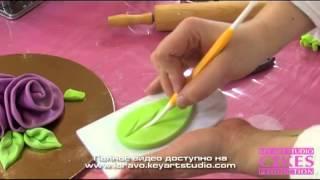 Ленточные розы из мастики легко и быстро(Видео МК по кейк дизайну Ларисы Вольницкой Loravo (Key Art Studio Cakes) Полное видео доступно бесплатно на http://loravo.keyartstu..., 2013-03-13T19:21:21.000Z)