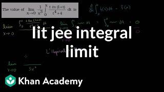 IIT JEE Integral Limit
