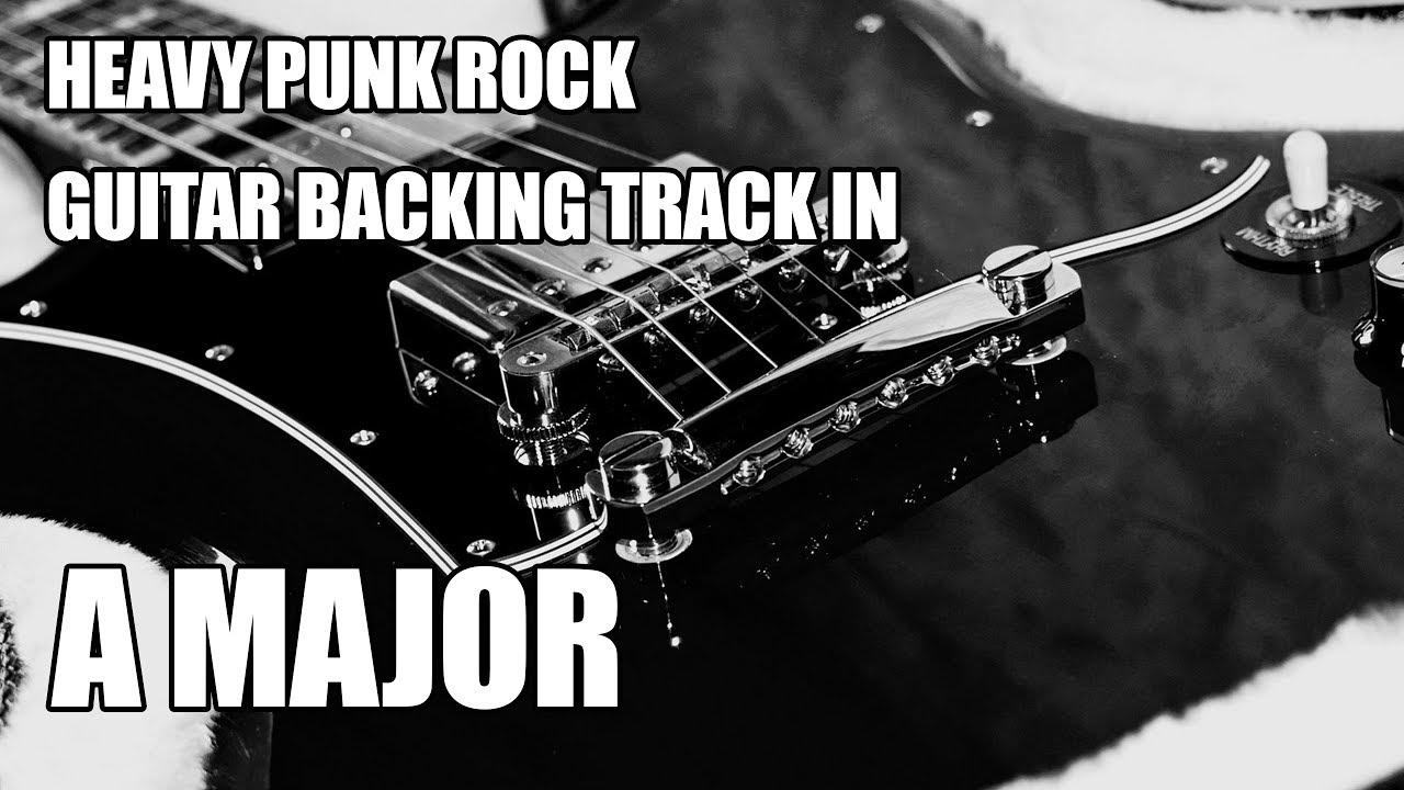 heavy punk rock guitar backing track in a major youtube. Black Bedroom Furniture Sets. Home Design Ideas