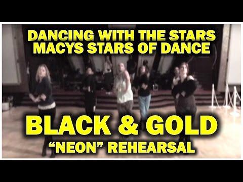DWS Black & Gold rehearsal