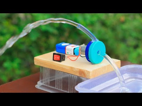 How to Make a Water Pump from Motor at Home   Awesome Ideas