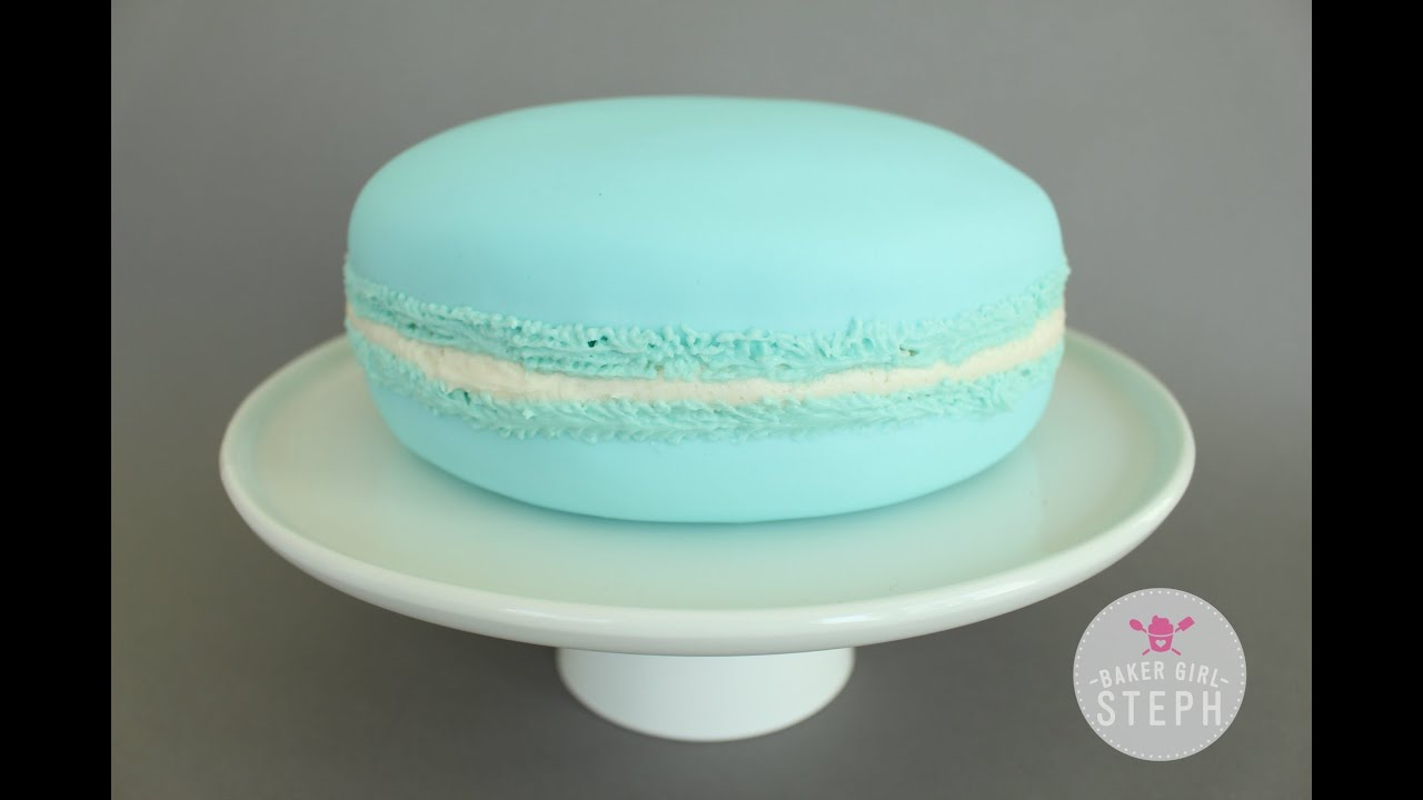 How To Make A Giant Macaron Cake