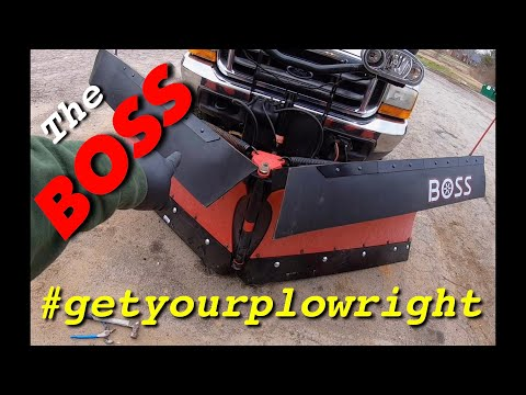 Boss Snow Plow Deflector And Cutting Edge Install