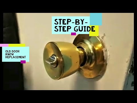 How To Change A Door Knob Without Visible Screws Youtube