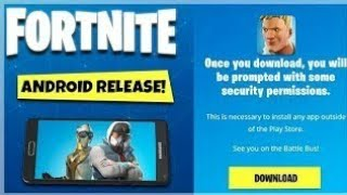 Fortnite android Beta version télécharger invitation de téléchargement officiel de EPIC GAMES