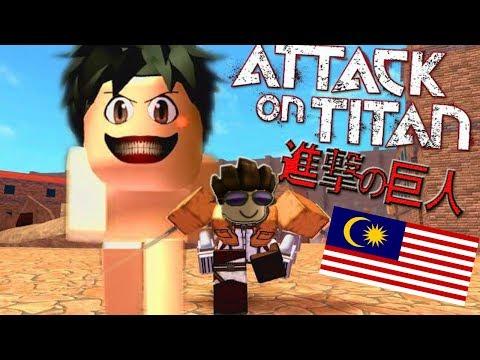 Diserang Titan [Attack On Titan:Downfall] Roblox #Malaysia