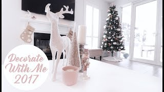 DECORATE WITH ME - CHRISTMAS 2017 - CRYSTAL CONTE