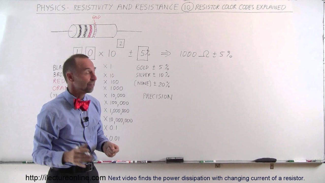 Physics Em Resistivity And Resistance 10 Of 32 Resistor Color Code Diagram Explained