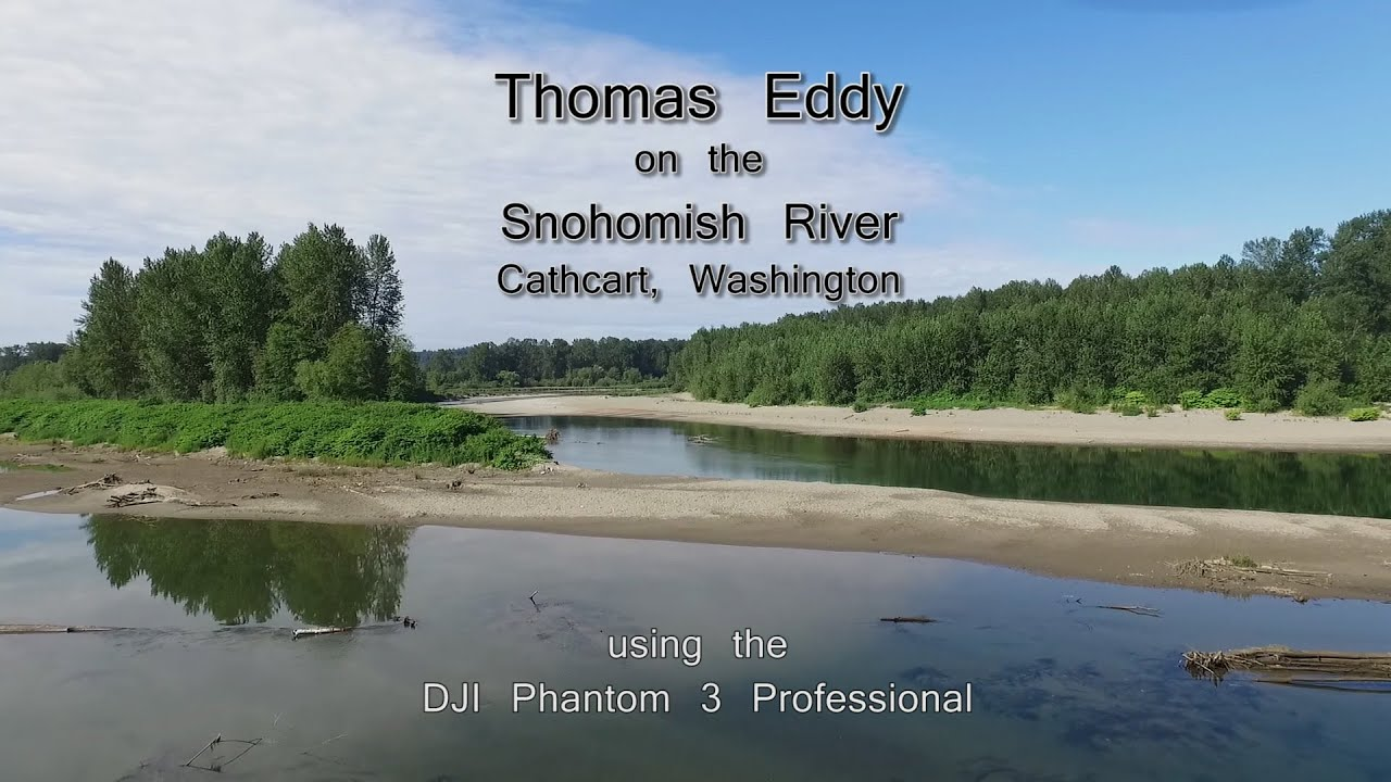 Drone flight over the snohomish river washington with the for Snohomish river fishing report