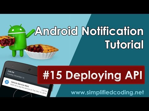 15 Android Notification Tutorial - Deploying API in Firebase