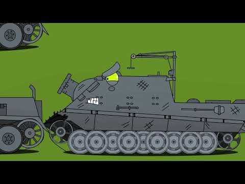 Советский монстр кв6 против тигров - Мультики про танки