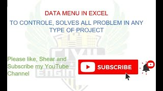 DATA MENU IN EXCEL