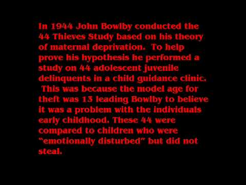 bowlby maternal deprivation theory