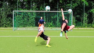 Ultimative fallrÜckzieher & first touch volley fussball challenge