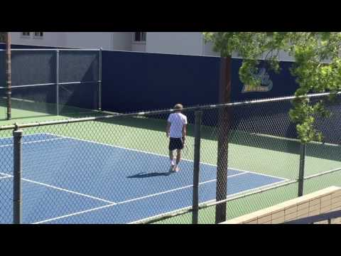 Alexander Zverev and Dimitrov Practice at UCLA 3-3-17