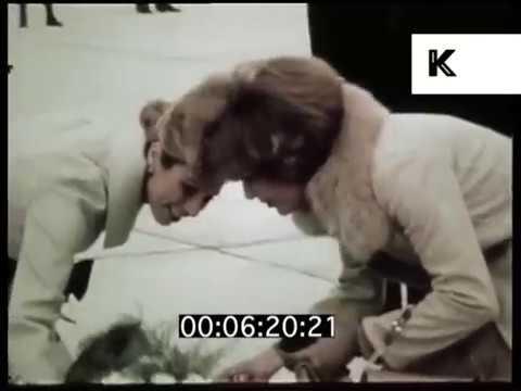 1970s Empress Farah Pahlavi of Iran Visits Jordan, 1976