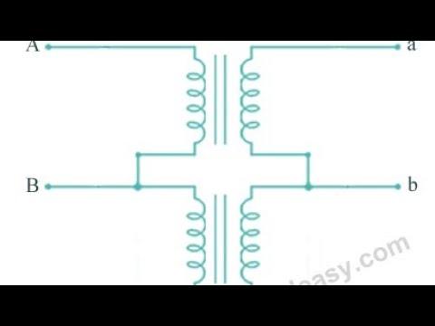 Open Delta or V-V connection of three phase transformer