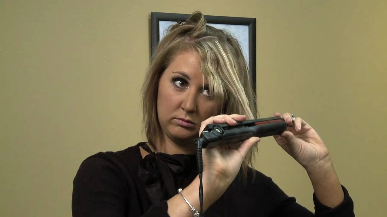 How To Crimp Your Hair With A Flat Iron Youtube