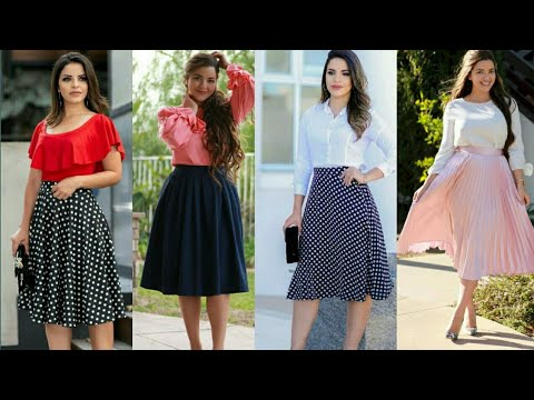 simple-top-with-knee-length-skirt-designs-||-outfit-ideas-for-girls