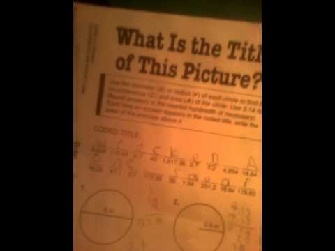 Math with pizzazz book d D-60 answer's - YouTube