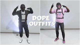 GTA 5 ONLINE CREATE 2 DOPE MODDED TRYHARD/RNG OUTFITS USING CLOTHING GLITCHES!