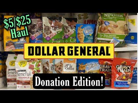 Dollar General $5/$25 Haul & Walmart Pet Shelter Donation Haul! 9/18/21