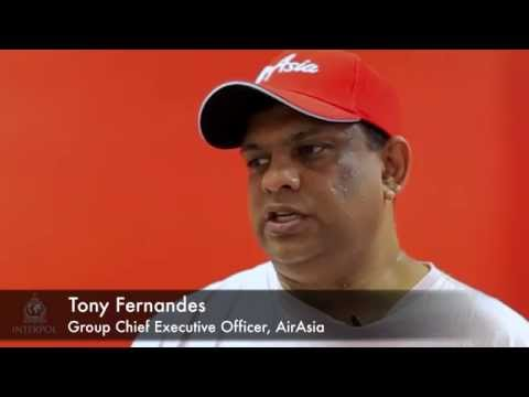 INTERPOL I-Checkit with AirAsia's Tony Fernandes, Group Chief Executive Officer