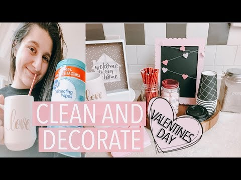 Clean and Decorate With Me for VALENTINES DAY 2019 // DIY HOT COCOA BAR!