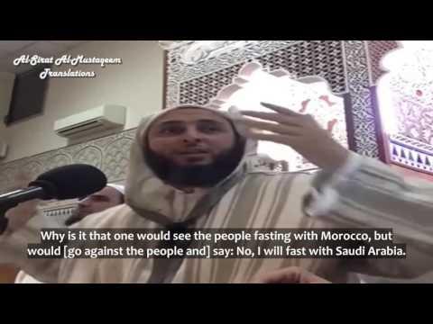 Q: I don't wish to start my Fast with Saudi Arabia - Sh. Saeed al-Kamali [Eng. Sub]