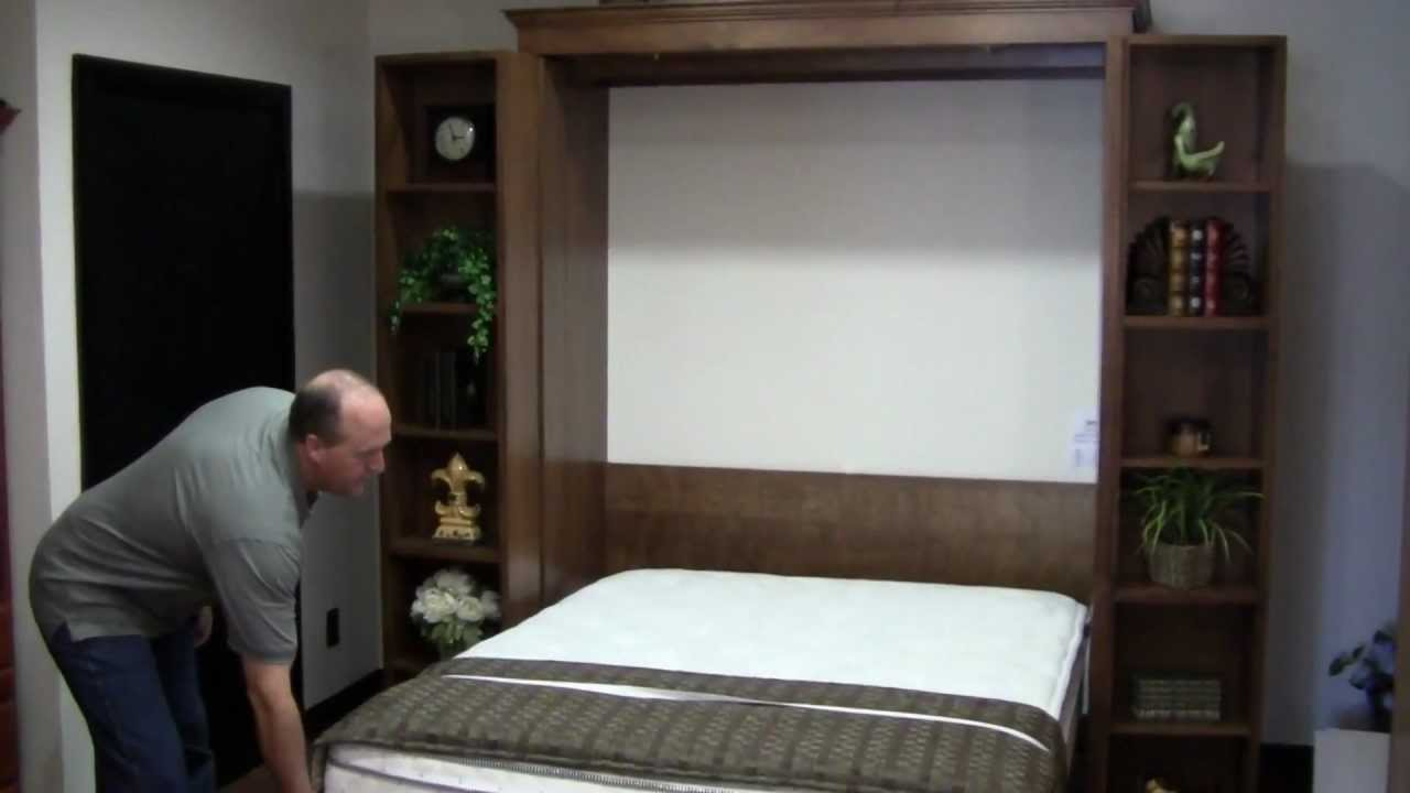 Bookcase Wallbed Demonstration - YouTube