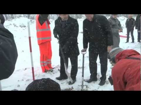 Damptog. Første spadestik. Juletræstænding. Lokal-tv d. 20-12-12 NFMK