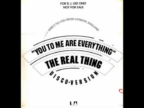 the real thing - you to me are everything (best remix)