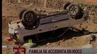 Familia se accidenta en Iroco