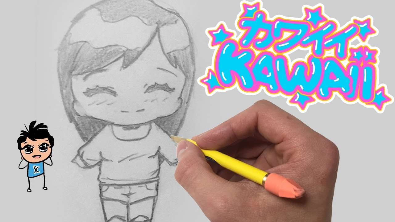 How to draw a kawaii chibi girl for beginners easy step by step tutorial youtube