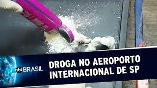 Triplicam as apreensões de drogas no Aeroporto Internacional de SP | SBT Brasil (22/08/19)