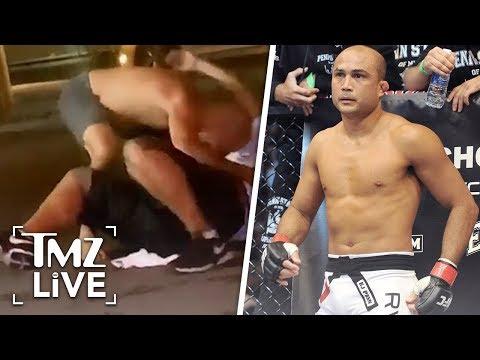 UFC Legend BJ Penn Get's Into Drunken Brawl At Strip Club | TMZ Live