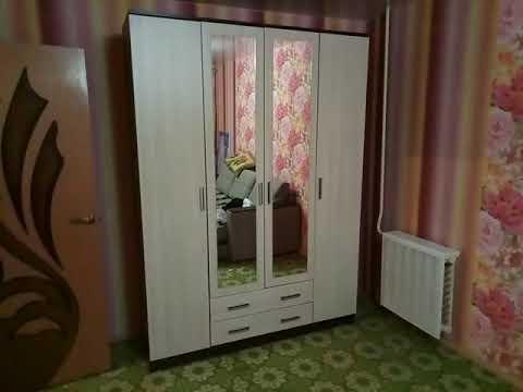 Шкаф Квадро с четырьмя створками и зеркалом. Mebeelek.ru
