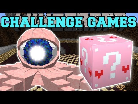 Minecraft: EYEBALL OCTOPUS CHALLENGE GAMES - Lucky Block Mod - Modded Mini-Game
