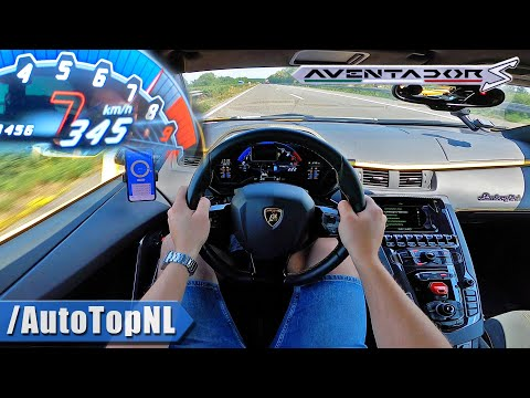 LAMBORGHINI Aventador S V12 *345KM/H* on AUTOBAHN [NO SPEED LIMIT] by AutoTopNL