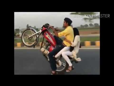Bike Wheeling with Hot girl karachi