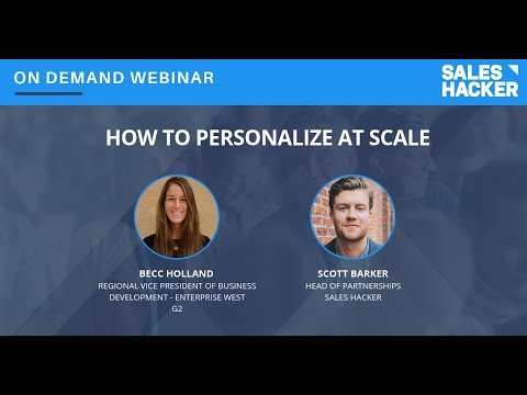 How to Personalize at Scale