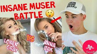 SHE'S SO CUTE! ANNA ZAK VS LOREN GRAY MUSER BATTLE 2017 MUSICAL.LY COMPILATION MUST WATCH
