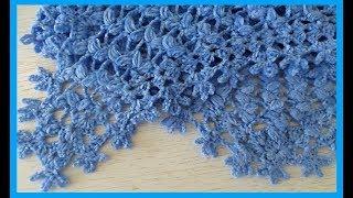 Красивая обвязка для шали или бактуса,вязание крючком,crochet shawl(шаль №107)