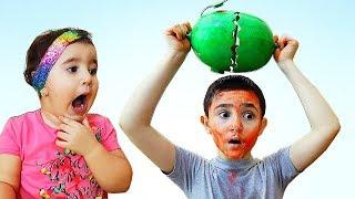 Celina And Hasouna Watermelon Challenge - تحدي البطيخ