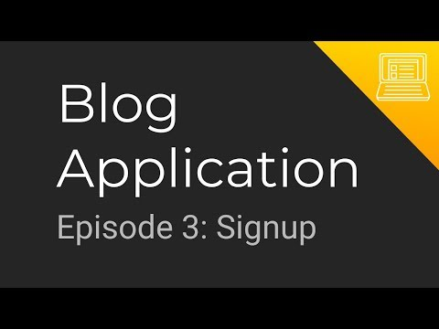 Blog App Tutorial: Episode 3 - Signup (Golang + gRPC Microservices + MongoDB + Progressive Web App) thumbnail