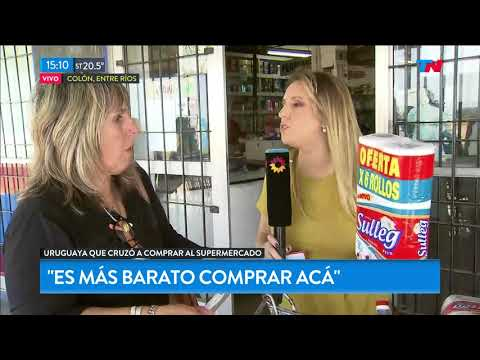 Los uruguayos cruzan a comprar a Argentina