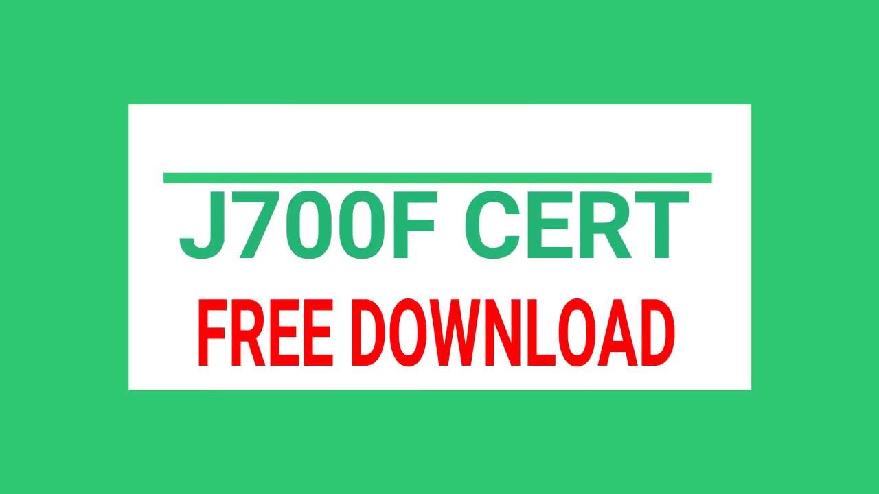 Samsung J700f Cert Free Download