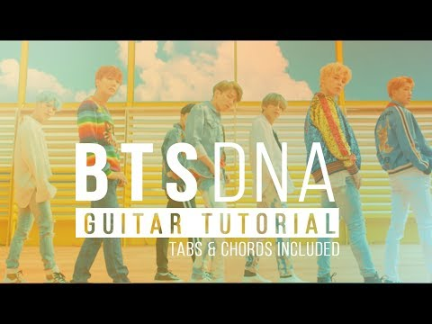 DNA - BTS 방탄 소년단 | Acoustic Guitar Tutorial Lesson | Melody Tabs & Chords Cover