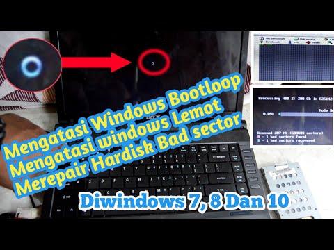 Mengatasi Windows Laptop/Pc Gagal Booting | memperbaiki Hardisk Bad Sector  | REPAIR HDD Bad Sector